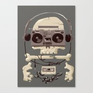 Canvas Print featuring Doombox by Fightstacy