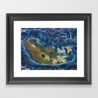 Abstract coralline algae in rock pool on beach in Queensland Framed Art Print