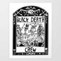 Black Death Crew Art Print
