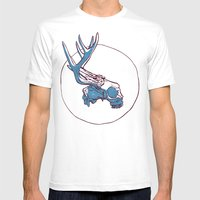 Deer Skull Mens Fitted Tee White SMALL