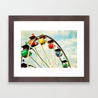 round and round we go Framed Art Print