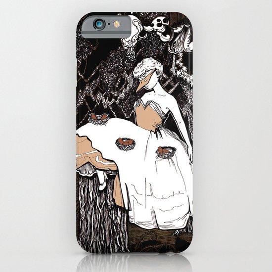 Lady & Birds 2 iPhone & iPod Case