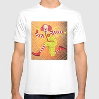 Ronald Mens Fitted Tee White SMALL