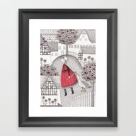 Framed Art Print featuring The Old Village by Judith Clay