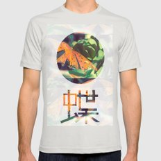 Autumn Spirit Flight Mens Fitted Tee Silver SMALL