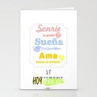 {ESP} SONRÍE · SUEÑA · AMA Stationery Cards