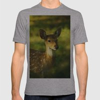 Indian Deer Mens Fitted Tee Athletic Grey SMALL