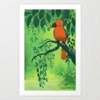 Red Bird Art Print