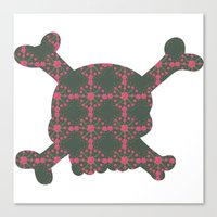 pattern with skull Canvas Print