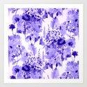 floral Delft blue Art Print