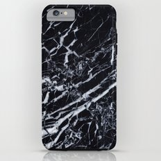 Real Marble Black iPhone 6s Plus Tough Case
