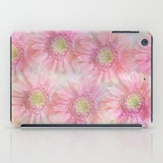 Pink daisies on a pastel background. iPad Case