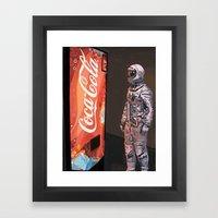 The Coke Machine Framed Art Print