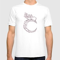 Owl Sing For The Moon Mens Fitted Tee White SMALL