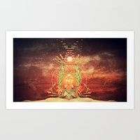 Future Pharaoh Series Part 1 Art Print