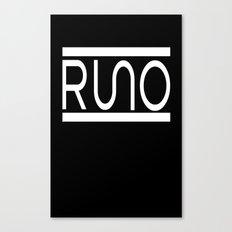 Rue Nothing RUNO Logo White Canvas Print