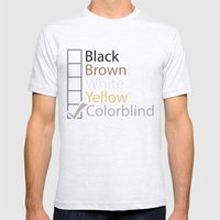 Colorblind Mens Fitted Tee Ash Grey SMALL