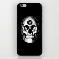 Third Eye Bones (Black and White Edition) iPhone & iPod Skin