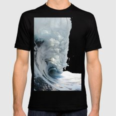 wave SMALL Mens Fitted Tee Black