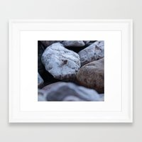 cold stones Framed Art Print