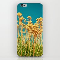 Blue & Gold & Green iPhone & iPod Skin