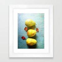 Three Pears Framed Art Print