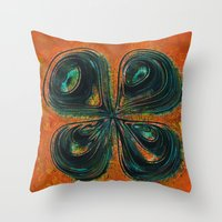 4leaf Throw Pillow