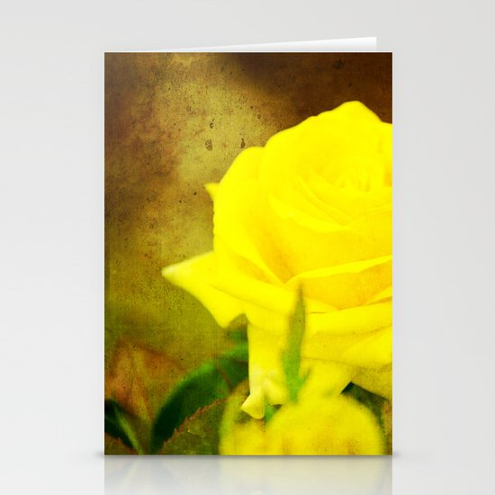 Yellow Rose Stationery Card