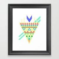 Triangle Affiniti Framed Art Print