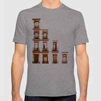 Balconies Mens Fitted Tee Tri-Grey SMALL