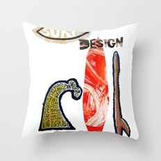 Surf Design Throw Pillow