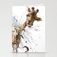 giraffe Stationery Cards featuring Giraffe by TAOJB