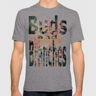 Buds And Branches Mens Fitted Tee Tri-Grey SMALL