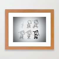 Cartoon Character Step by Step Framed Art Print