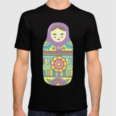 Russian Doll MEDIUM Mens Fitted Tee Black