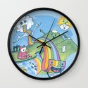 Rainbow Pasta Wall Clock