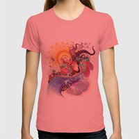 Koi Womens Fitted Tee Pomegranate SMALL