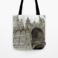 Rouen facade Tote Bag