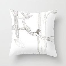 Vine-Swinging Throw Pillow