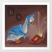 Mother Goose  Art Print
