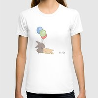 Balloons Womens Fitted Tee White SMALL