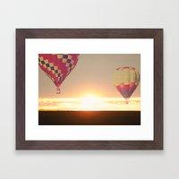 Balloons at Sunset Framed Art Print