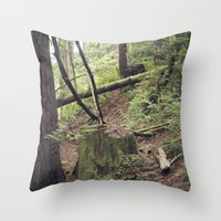 A walk in the Redwoods Throw Pillow