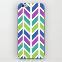 SPRING CHEVRON iPhone & iPod Skin