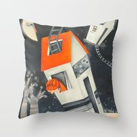 Houses and sky Throw Pillow
