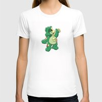Zombie care bear Womens Fitted Tee White SMALL