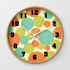 Flowers In May Wall Clock