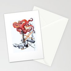 Robot Octopus Coffee Date Stationery Cards