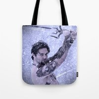 Bam Bam the Snow Warrior Tote Bag