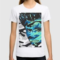 Marlon Brando: Double Vision Womens Fitted Tee Ash Grey SMALL